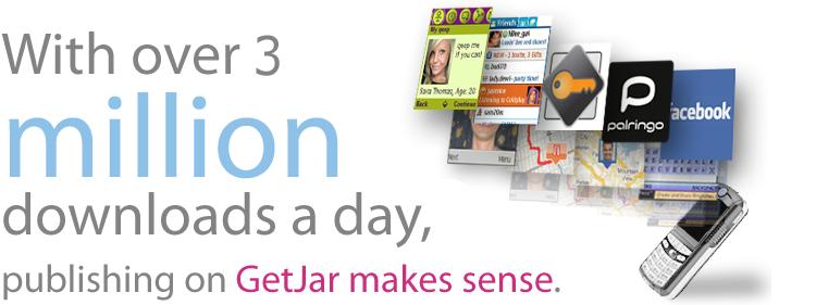 Over 3 million Downloads a day on GetJar